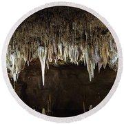 Meramec Caverns Round Beach Towel
