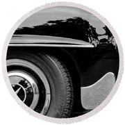 Mercedes-benz Wheel Emblem Round Beach Towel