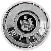 Mercury Wheel Emblem Round Beach Towel