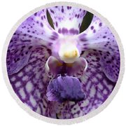 Micro Orchid Round Beach Towel