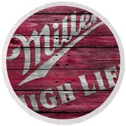 Miller High Life Round Beach Towel