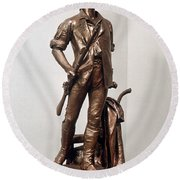 Minutemen Soldier Round Beach Towel