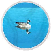 Mirror Goose Round Beach Towel