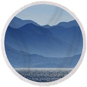 Misty Mountains Round Beach Towel