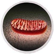Mitochondria Cut Round Beach Towel