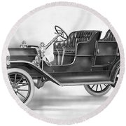 Model T Ford, 1908 Round Beach Towel