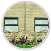 Modern Building Round Beach Towel