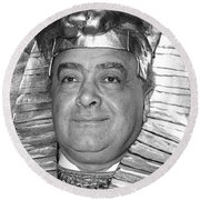 Mohamed Al Fayed Round Beach Towel