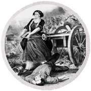 Molly Pitcher (c1754-1832) Round Beach Towel
