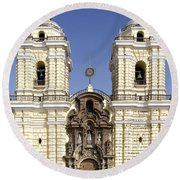 Monastery Of San Francisco - Lima Peru Round Beach Towel