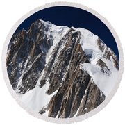 Mont Blanc Massif Round Beach Towel