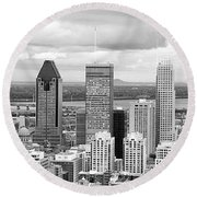 Montreal View Round Beach Towel