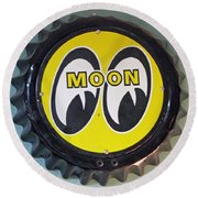 Moon Cap Round Beach Towel