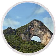 Moon Hill, Yangshuo, China Round Beach Towel