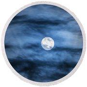Moon Round Beach Towel