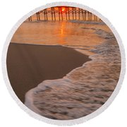 morning at  Myrtle Beach South Carolina Round Beach Towel