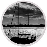 Morning Sail Round Beach Towel