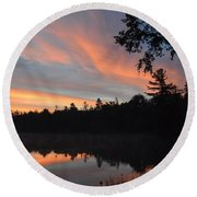 Morning Stillness Round Beach Towel