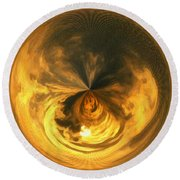 Morphed Art Globe 7 Round Beach Towel