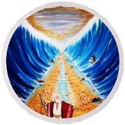 Moses. Round Beach Towel