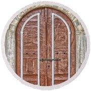 Mosque Doors 09 Round Beach Towel