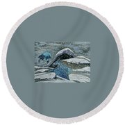 Mother Dragon Round Beach Towel