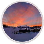 Mount Crested Butte Round Beach Towel