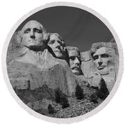 Mount Rushmore Round Beach Towel by Frank Romeo