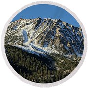 Mount Tom Round Beach Towel