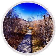 Mountain Creek Path-sundance Utah Round Beach Towel