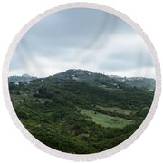 Mountain Landscape Of Italy Round Beach Towel