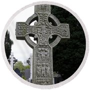 Muiredach's Cross - Monasterboice Round Beach Towel