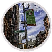 Mulberry St - Nyc Round Beach Towel