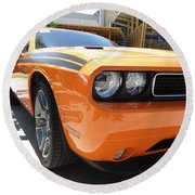 Muscle Car Round Beach Towel