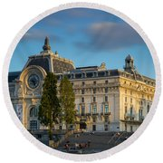 Musee D'orsay Evening Round Beach Towel