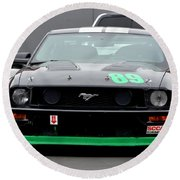 Mustang Race Car Round Beach Towel