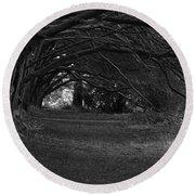 Mystical Yew Trees 1 Round Beach Towel