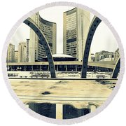 Nathan Phillips Square Round Beach Towel