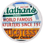 Nathan's Sign Round Beach Towel