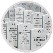 National Cemetery Of The Alleghenies Round Beach Towel