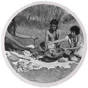 Native American Traders Round Beach Towel