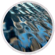Natural Water Abstract Round Beach Towel