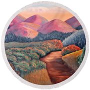Natures Path Round Beach Towel