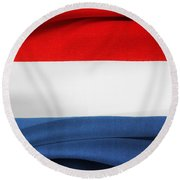Netherlands Flag Round Beach Towel