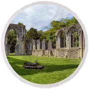 Netley Abbey Round Beach Towel