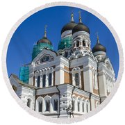 Nevsky Cathedral - Tallin Estonia Round Beach Towel