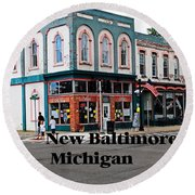 New Baltimore Michigan Round Beach Towel