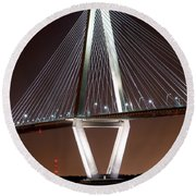 New Cooper River Bridge Round Beach Towel