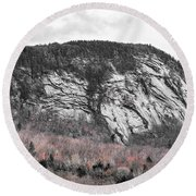 New Hampshire Mountain Round Beach Towel