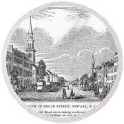 New Jersey Newark, 1844 Round Beach Towel
